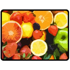 Fruits Pattern Double Sided Fleece Blanket (large)  by Valentinaart