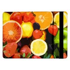 Fruits Pattern Samsung Galaxy Tab Pro 12 2  Flip Case by Valentinaart