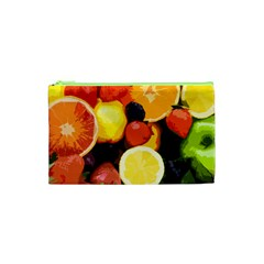 Fruits Pattern Cosmetic Bag (xs) by Valentinaart