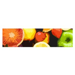 Fruits Pattern Satin Scarf (oblong) by Valentinaart