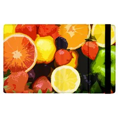 Fruits Pattern Apple Ipad Pro 12 9   Flip Case by Valentinaart