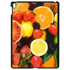 Fruits Pattern Apple Ipad Pro 9 7   Black Seamless Case by Valentinaart