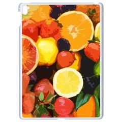 Fruits Pattern Apple Ipad Pro 9 7   White Seamless Case by Valentinaart