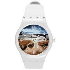 Landscape Round Plastic Sport Watch (m) by Valentinaart