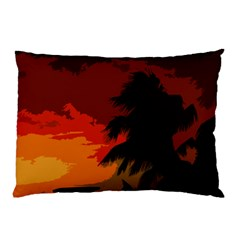 Landscape Pillow Case (two Sides) by Valentinaart