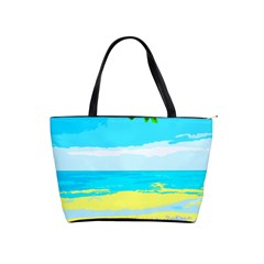 Landscape Shoulder Handbags by Valentinaart