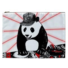 Deejay Panda Cosmetic Bag (xxl)  by Valentinaart