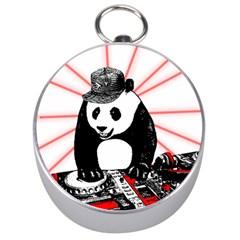 Deejay Panda Silver Compasses by Valentinaart