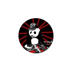 Deejay Panda Golf Ball Marker by Valentinaart