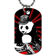 Deejay Panda Dog Tag (two Sides) by Valentinaart
