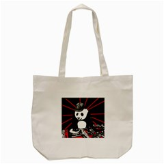 Deejay Panda Tote Bag (cream) by Valentinaart