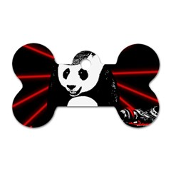 Deejay Panda Dog Tag Bone (two Sides) by Valentinaart