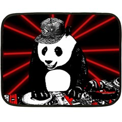 Deejay Panda Fleece Blanket (mini) by Valentinaart