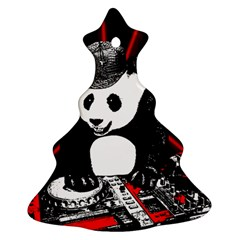 Deejay Panda Christmas Tree Ornament (two Sides) by Valentinaart