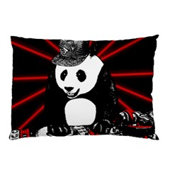 Deejay Panda Pillow Case (two Sides) by Valentinaart
