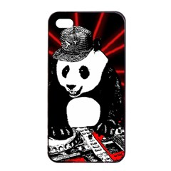 Deejay Panda Apple Iphone 4/4s Seamless Case (black) by Valentinaart
