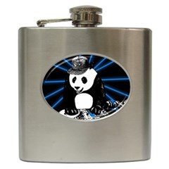 Deejay Panda Hip Flask (6 Oz) by Valentinaart