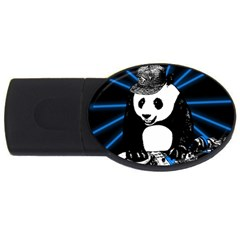 Deejay Panda Usb Flash Drive Oval (4 Gb) by Valentinaart