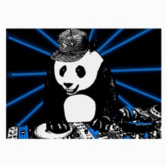 Deejay Panda Large Glasses Cloth (2 Side) by Valentinaart