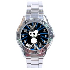 Deejay Panda Stainless Steel Analogue Watch by Valentinaart