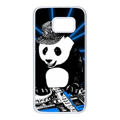 Deejay Panda Samsung Galaxy S7 White Seamless Case by Valentinaart
