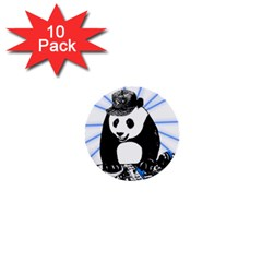 Deejay Panda 1  Mini Buttons (10 Pack)  by Valentinaart