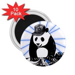 Deejay Panda 2 25  Magnets (10 Pack)  by Valentinaart