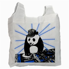 Deejay Panda Recycle Bag (two Side)  by Valentinaart