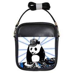 Deejay Panda Girls Sling Bags by Valentinaart