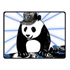 Deejay Panda Fleece Blanket (small) by Valentinaart