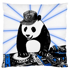 Deejay Panda Large Cushion Case (two Sides) by Valentinaart