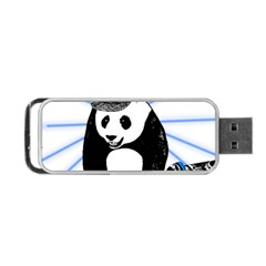Deejay Panda Portable Usb Flash (two Sides) by Valentinaart
