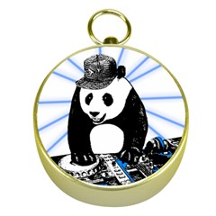 Deejay Panda Gold Compasses by Valentinaart