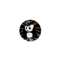 Deejay Panda 1  Mini Buttons by Valentinaart