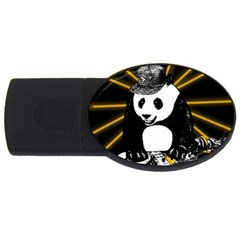 Deejay Panda Usb Flash Drive Oval (2 Gb) by Valentinaart