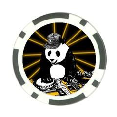 Deejay Panda Poker Chip Card Guard (10 Pack) by Valentinaart