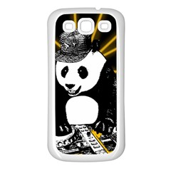 Deejay Panda Samsung Galaxy S3 Back Case (white) by Valentinaart