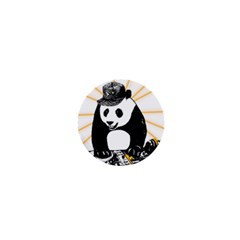 Deejay Panda 1  Mini Buttons by Valentinaart