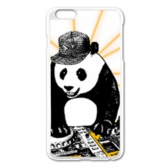 Deejay Panda Apple Iphone 6 Plus/6s Plus Enamel White Case by Valentinaart