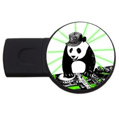 Deejay Panda Usb Flash Drive Round (2 Gb) by Valentinaart