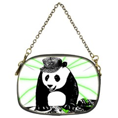 Deejay Panda Chain Purses (two Sides)  by Valentinaart