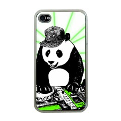 Deejay Panda Apple Iphone 4 Case (clear) by Valentinaart