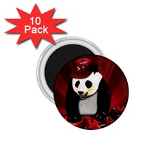 Deejay Panda 1 75  Magnets (10 Pack)  by Valentinaart