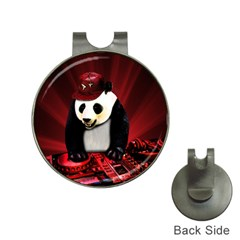 Deejay Panda Hat Clips With Golf Markers by Valentinaart