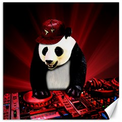 Deejay Panda Canvas 16  X 16   by Valentinaart