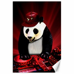 Deejay Panda Canvas 20  X 30   by Valentinaart