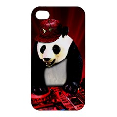 Deejay Panda Apple Iphone 4/4s Premium Hardshell Case by Valentinaart