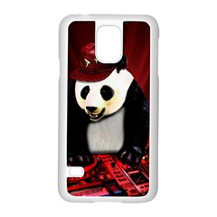Deejay Panda Samsung Galaxy S5 Case (white) by Valentinaart