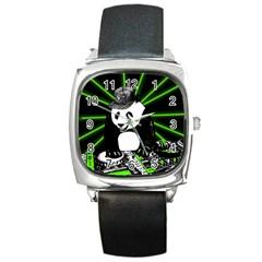 Deejay Panda Square Metal Watch by Valentinaart