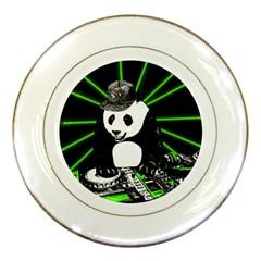Deejay Panda Porcelain Plates by Valentinaart
